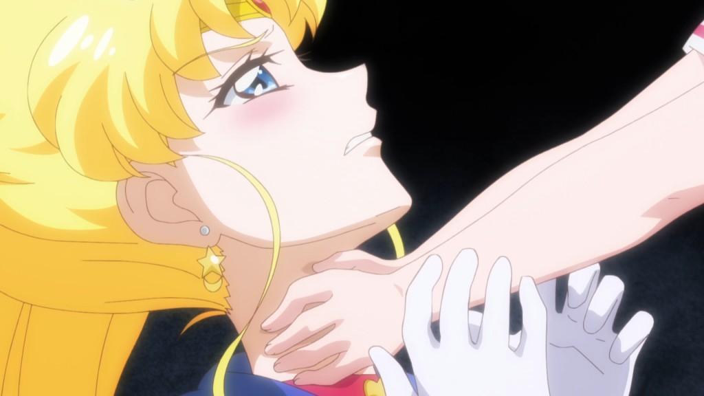 Sailor Moon Crystal Act 34 - Chibiusa choking Sailor Moon