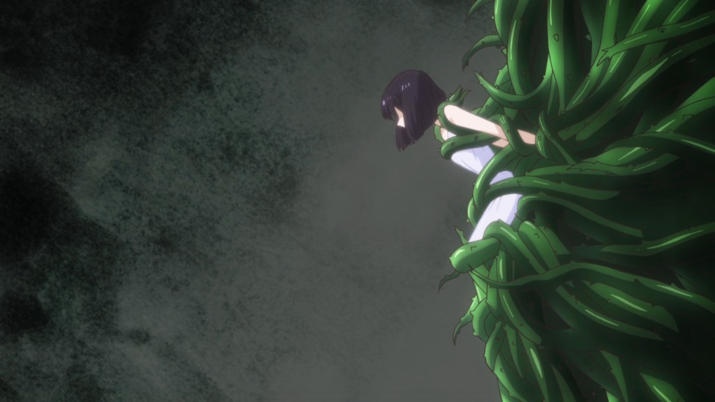 Sailor Moon Crystal Act 34 - Hotaru stuck in some vines