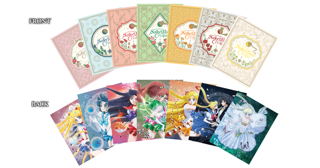 Sailor Moon Crystal set 1 limited edition Blu-Ray - Art cards