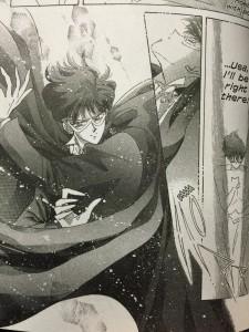 Sailor Moon Manga Act 36 - Tuxedo Mask transforms