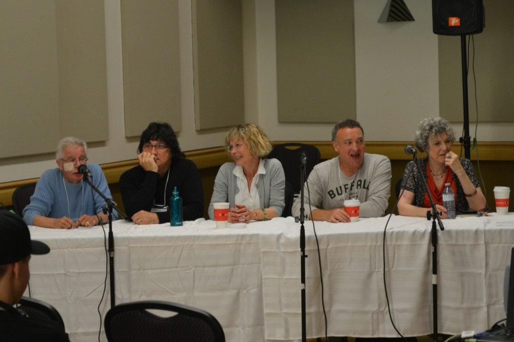 Roland Parliament, Tony Daniels, Susan Roman, Ron Rubin and Jill Frappier at the Toronto Sailor Moon Celebration