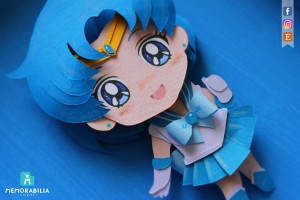 Sailor Mercury paper cut
