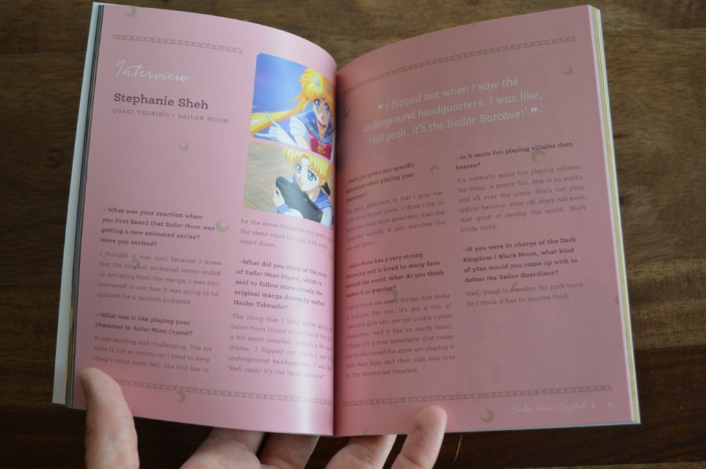 Sailor Moon Crystal Blu-Ray Set 1 - Booklet - Interview with Stephanie Sheh