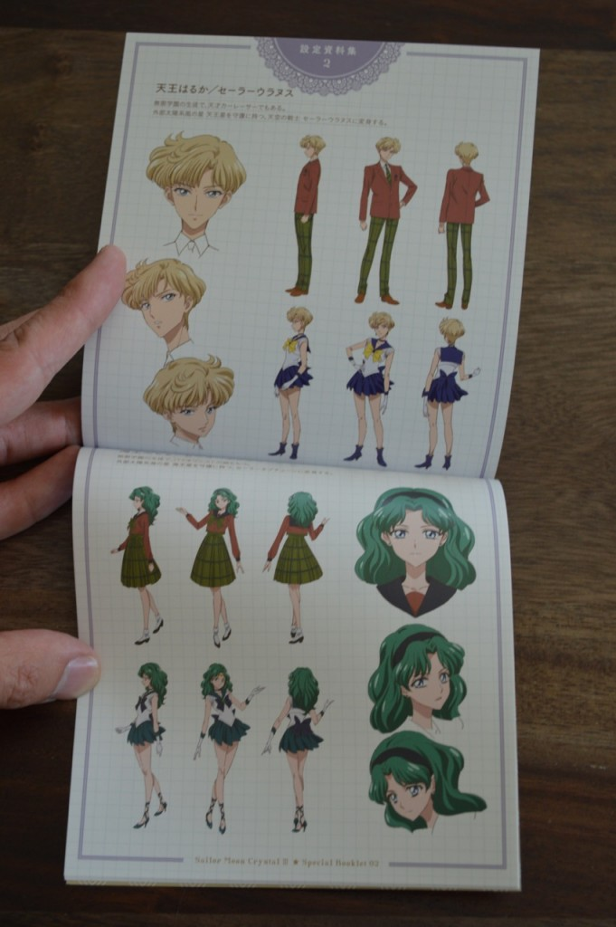 Sailor Moon Crystal Season III Blu-Ray - Vol. 2 - Special Booklet 2 - Pages 16 and 17 - Art for Haruka and Michiru