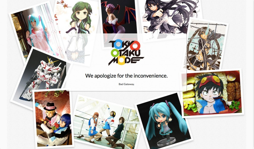 Tokyo Otaku Mode Bad Gateway Error
