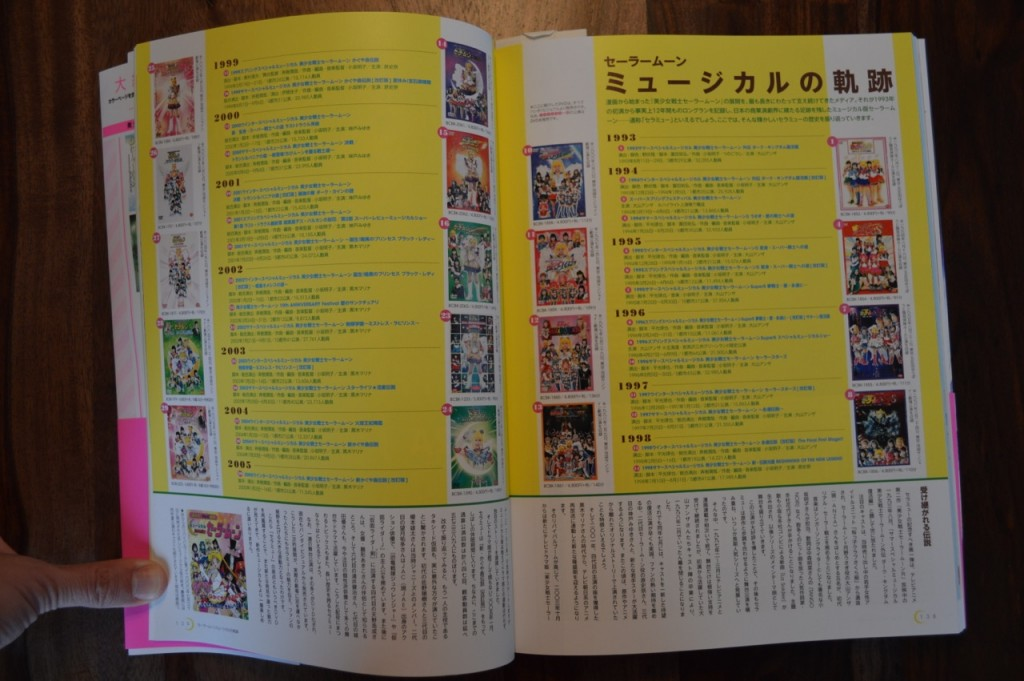 Sailor Moon 20th Anniversary Book - Old Sailor Moon Musicals
