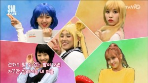 TWICE perform the Sailor Moon opening on SNL Korea