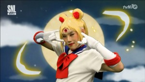 TWICE perform the Sailor Moon opening on SNL Korea - Kwon Kyuk Soo as Sailor Moon
