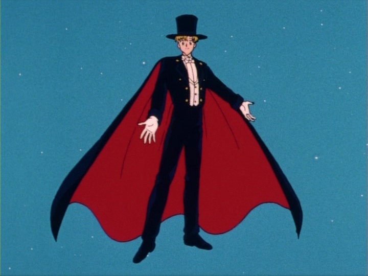 Sailor Moon episode 13 - Motoki as Tuxedo Mask