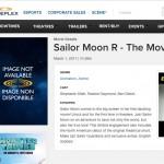 Sailor Moon R: The Movie listed on the Cineplex web site