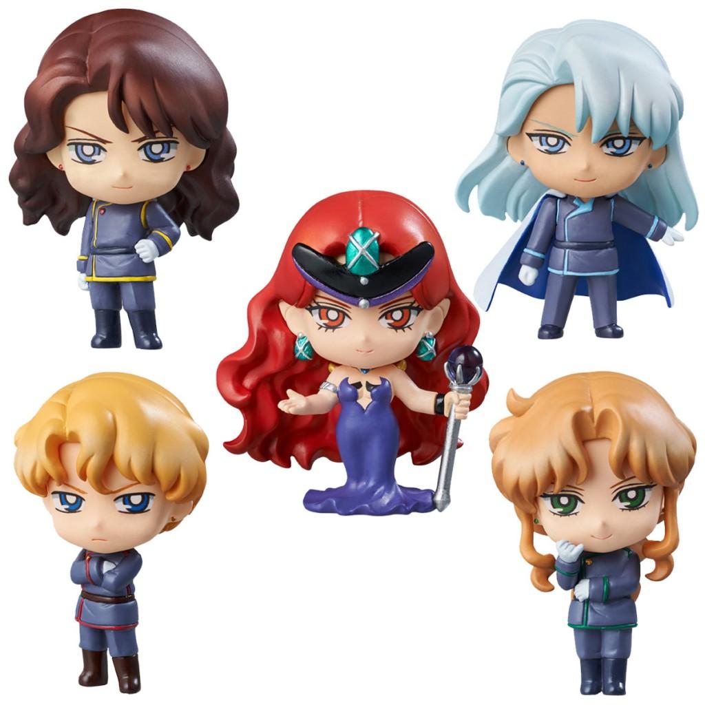Dark Kingdom Petit Chara figures - Jadeite, Nephrite, Queen Beryl, Kunzite, Zoisite