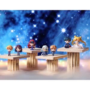 Dark Kingdom Petit Chara figures - Jadeite, Nephrite, Queen Beryl, Kunzite, Zoisite, Prince Endymion and Princess Serenity