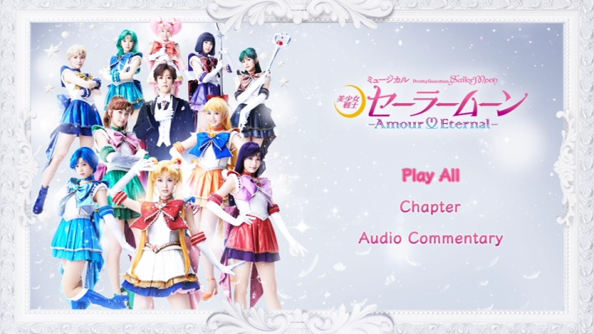 Sailor Moon Amour Eternal Musical DVD - Menu in Comic Sans