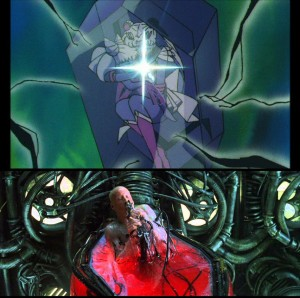 Sailor Moon SuperS The Movie and The Matrix - Usagi and Neo escape The Matrix
