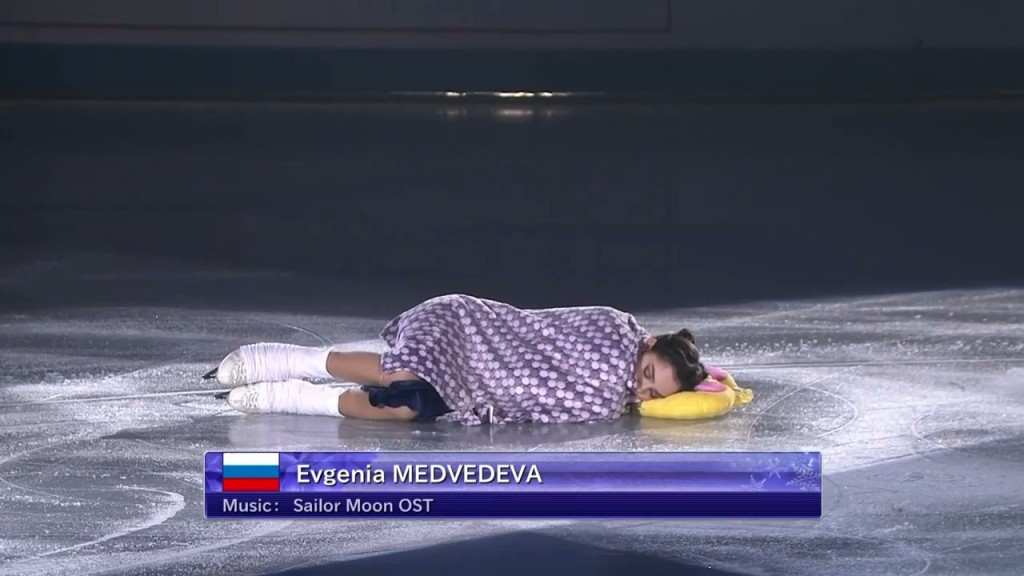 Evgenia Medvedeva's Sailor Moon Figure Skating Routine - Usagi sleeping in