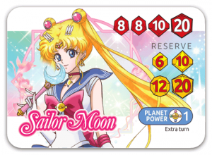 Sailor Moon Crystal Dice Challenge - Sailor Moon character card