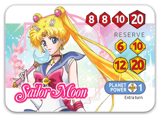 Sailor Moon Crystal Dice Challenge - Sailor Moon character card