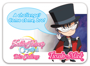 Sailor Moon Crystal Dice Challenge - Tuxedo Mask challenge card