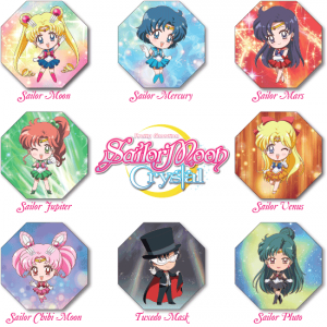 Sailor Moon Crystal Truth or Bluff - Character tiles