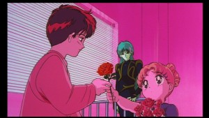 Sailor Moon R The Movie - Japense R2 DVD 2002 - Usagi gives a rose to Mamoru