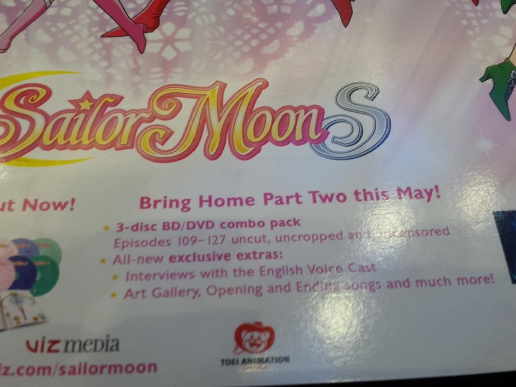 Sailor Moon S Part 2 is not out in May