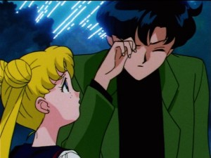 Sailor Moon SailorStars episode 167 - Mamoru getting a star in his eye