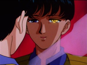 Sailor Moon SailorStars episode 169 - Mamoru gazes at a mirror