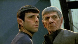 Spock and Spock - Zachary Quinto and Leonard Nimoy