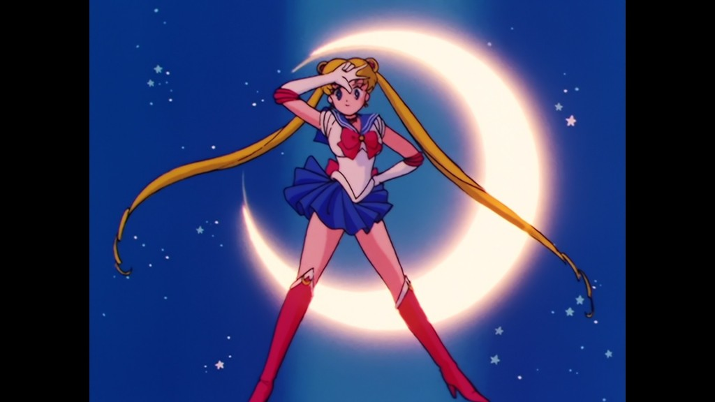 Sailor Moon Episode 1 - Japanese Blu-Ray - Sailor Moon poses