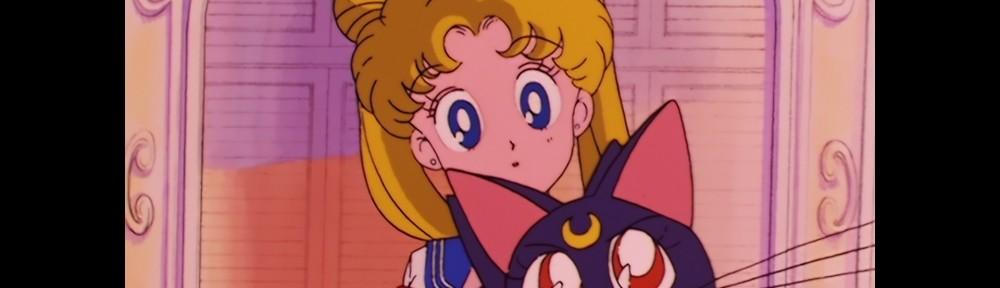 Sailor Moon Episode 1 - Japanese Blu-Ray - Usagi and Luna