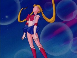 Sailor Moon episode 1 - Japanese DVD - Sailor Moon transforms