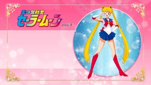 Sailor Moon Japanese Blu-Ray disc 1 menu