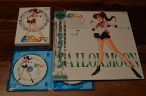Sailor Moon Japanese Blu-Ray Collection Volume 2 - Disc 1 art comparison