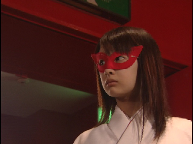 Live Action Pretty Guardian Sailor Moon Act 4 - Rei wearing a simple mask
