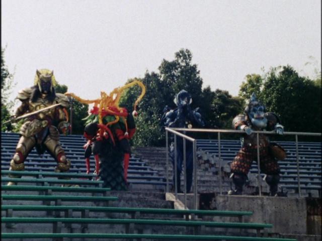 Kyoryu Sentai Zyuranger episode 16 - Grifforz, Dora Endos, Totpat and Bookback