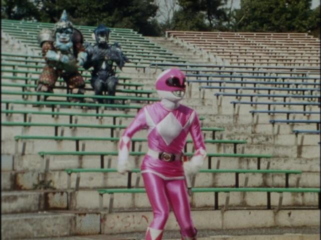 Kyoryu Sentai Zyuranger episode 5 - Pink Ranger, Bookback and Totpat