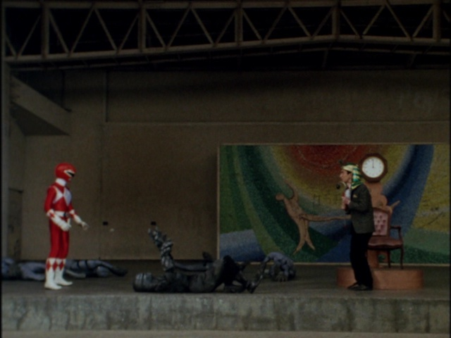 Kyoryu Sentai Zyuranger episode 5 - Red Ranger and Sphynx