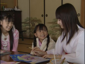 Live Action Pretty Guardian Sailor Moon Act 10 - Usagi, Erika and Rei paint Princess Kaguya images