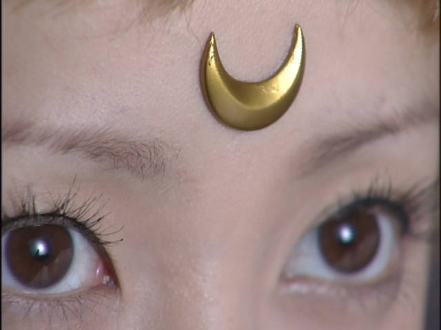Live Action Pretty Guardian Sailor Moon Act 12 - The Crescent Moon on Sailor Venus's forehead