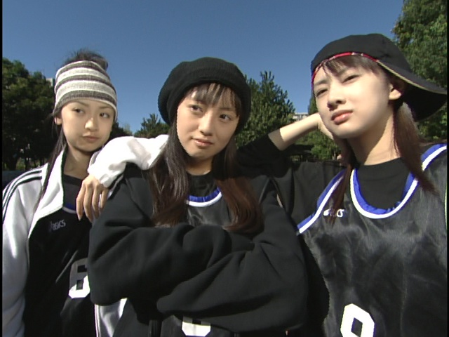 Live Action Pretty Guardian Sailor Moon Act 6 - Ami, Usagi and Rei ready for basketball
