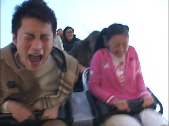 Live Action Pretty Guardian Sailor Moon Act 7 - Motoki and Usagi on a roller coaster