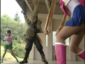 Live Action Pretty Guardian Sailor Moon Act 7 - Sailor Jupiter and Sailor Moon fight a monster