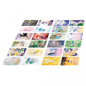 Sailor Moon Stamp set - 24 deluxe postcards
