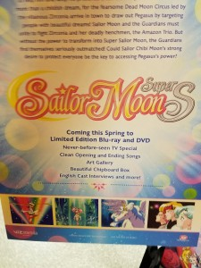 Back of poster with confirmation that the Sailor Moon SuperS Special will be included