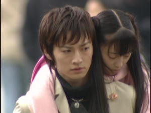 Live Action Pretty Guardian Sailor Moon Act 14 - Mamoru carries Usagi on his back