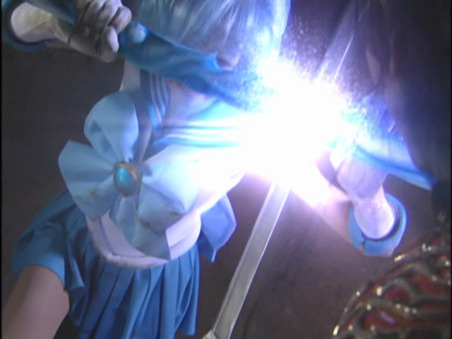 Live Action Pretty Guardian Sailor Moon Act 14 - Sailor Mercury defends with a sword