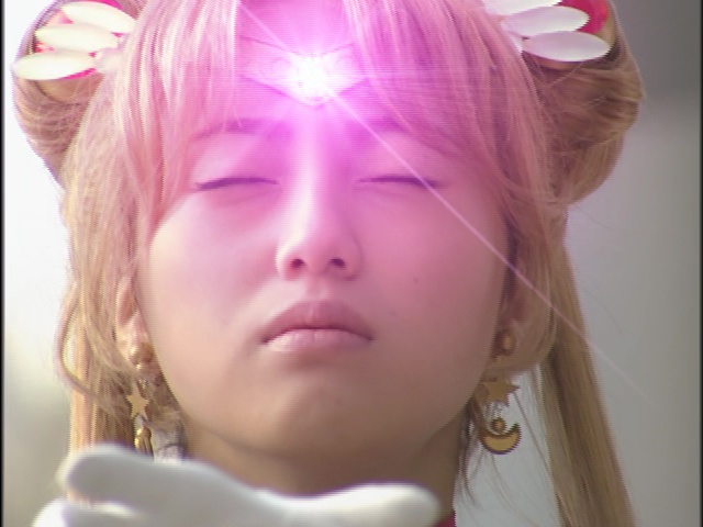 Live Action Pretty Guardian Sailor Moon Act 14 - Sailor Moon's tiara gem supposedly heals hear