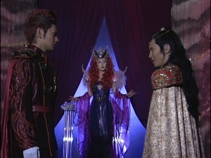 Live Action Pretty Guardian Sailor Moon Act 15 - Nephrite and Kunzite argue in front of Queen Beryl