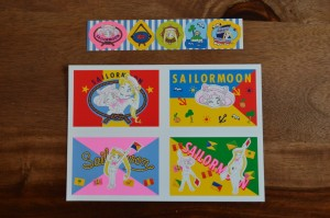 Sailor Moon Official Fan Club 2nd Year Membership - Stationary Set - Mini postcards