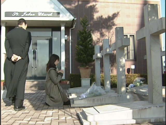 Live Action Pretty Guardian Sailor Moon Act 17 - Rei prays to her mother at St. Juban Church